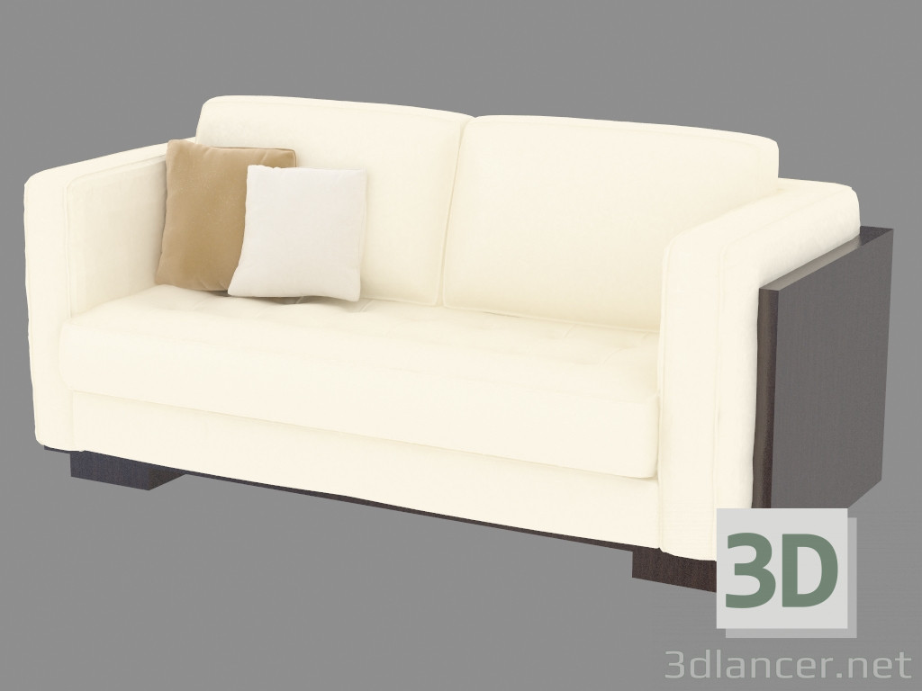 3d model Leather sofa double - preview