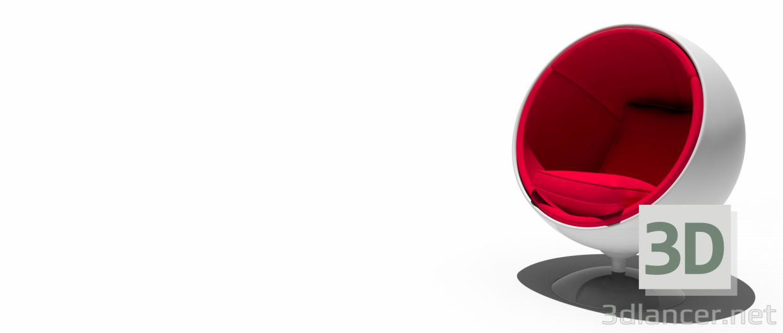 3d моделювання Крісло-куля Saarinen модель завантажити безкоштовно
