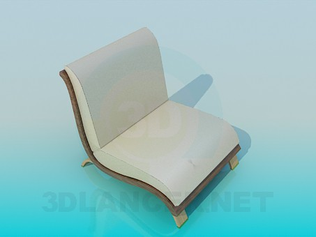 3d modeling Low armchair model free download