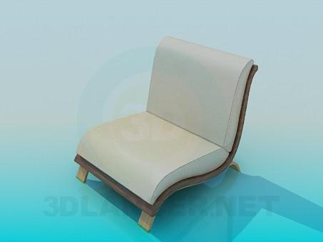 3d model Low armchair - preview