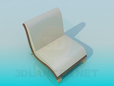 3d модель Низкое кресло – превью