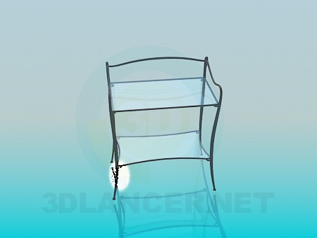 3d модель Підставка зі скляними поличками – превью