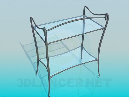 3d model Stand with glass racks - preview