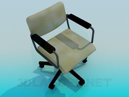 3d моделирование Кресло на колесиках модель скачать бесплатно