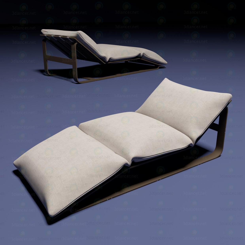 3d модель Шезлонг с подушками – превью