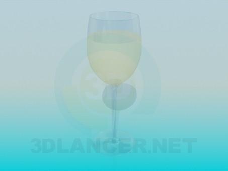 descarga gratuita de 3D modelado modelo Un vaso de vino blanco