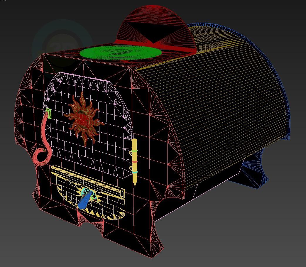 modelo 3D Horno Matrena - escuchar