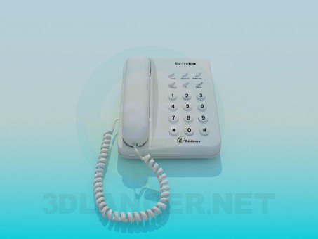 3d model Telephone set - preview