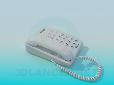 modelo 3D Sistema de teléfono - escuchar