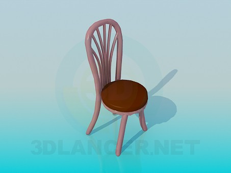 3d modeling Chair with massive legs and backrest model free download