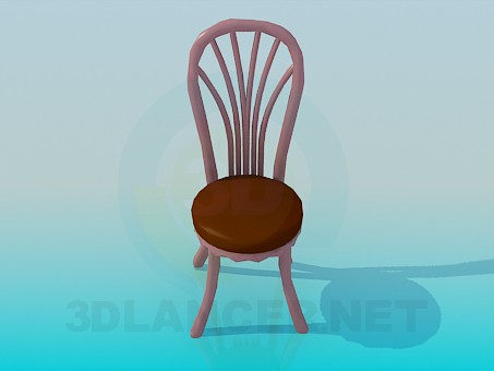 3d model Chair with massive legs and backrest - preview