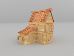 A due piani casa low poly