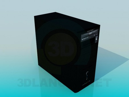 modelo 3D Unidad de sistema - escuchar