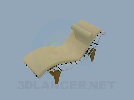 modelo 3D Tumbona con reposacabezas - escuchar