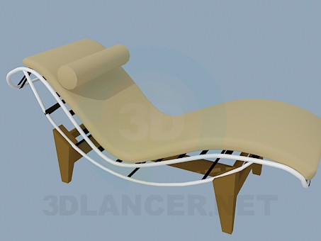 3d model Sunbed with headrest - preview