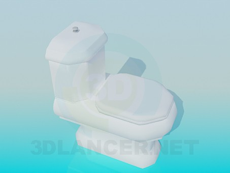 3d model The original toilet - preview