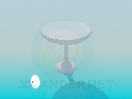 3d model Round table on the stem - preview