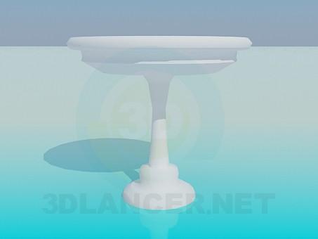 modelo 3D Mesa redonda sobre el tallo - escuchar