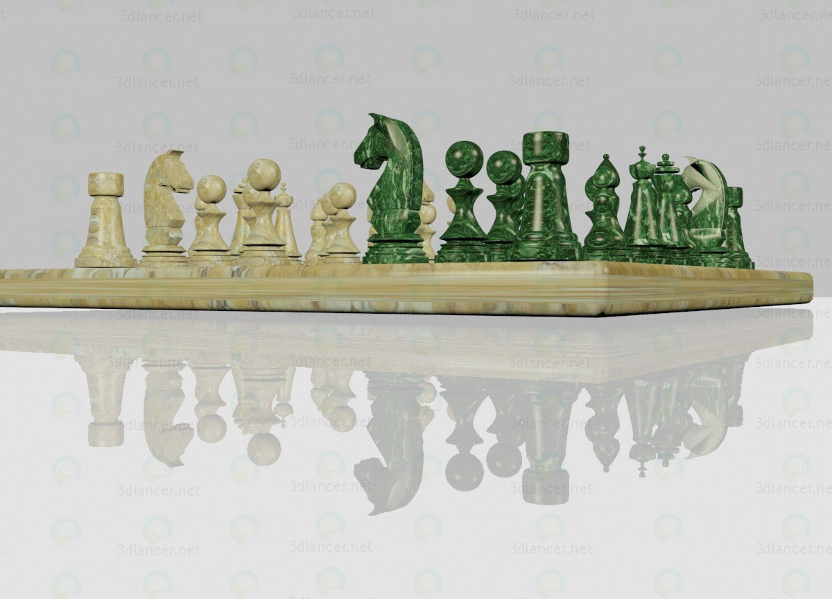 3d шахматы модель купить - ракурс