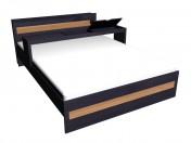 एक्सटेंशन के साथ डबल बेड 160 x 220