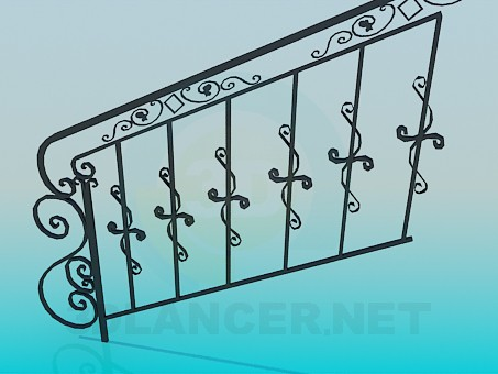 3d model Handrails on stairs - preview