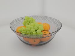 """Vaso in vetro """"Cuore"""" con frutti"""