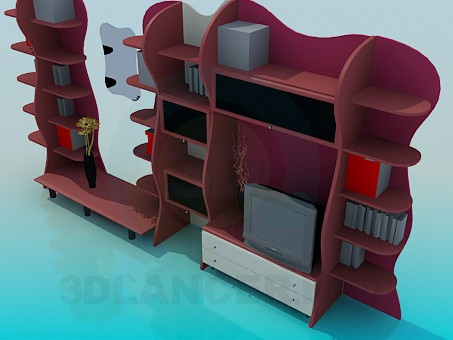 3d model Furniture wall-rack - preview