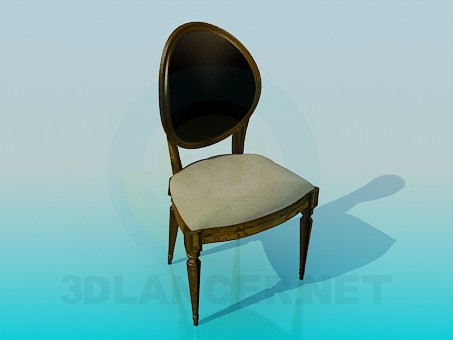 3d modeling Chair with upholstered headboard model free download