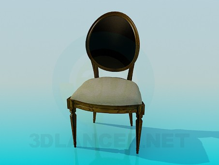 3d model Chair with upholstered headboard - preview