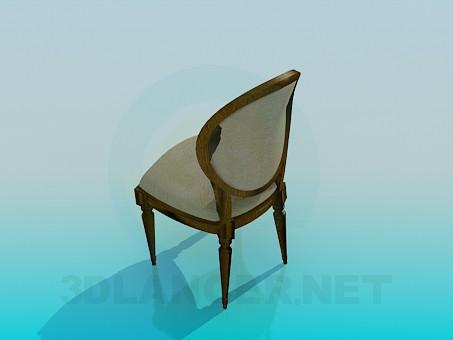 modelo 3D Silla con cabecera tapizada - escuchar