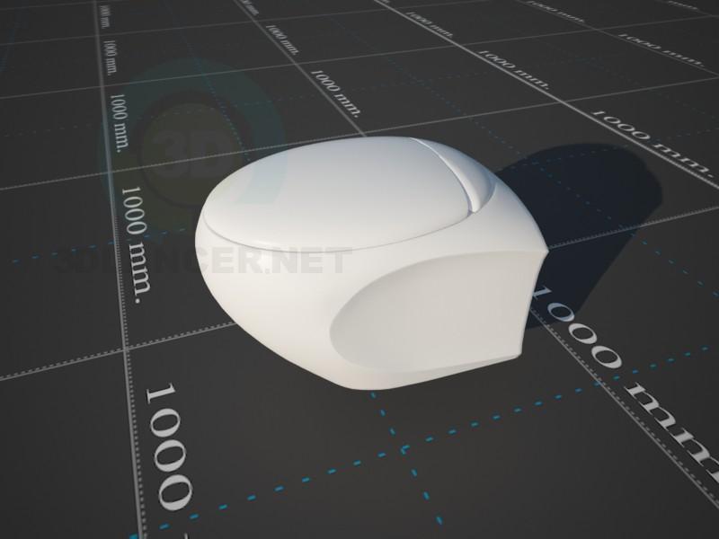 "modelo 3D Taza del inodoro ""Cersanit Bilbao"" - escuchar"