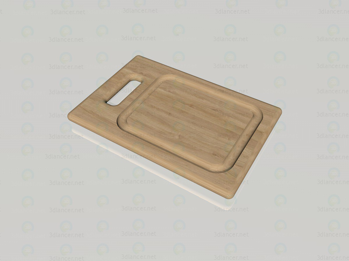 3d model cutting board - preview