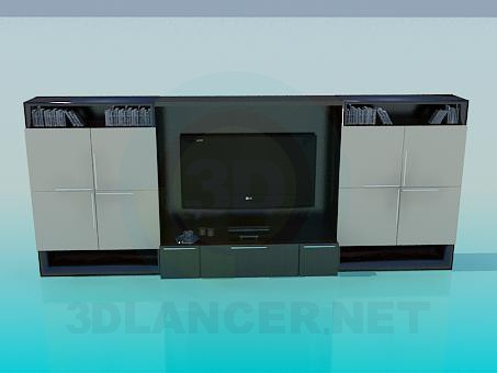 3d model Cabinet under the TV - preview
