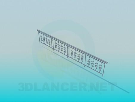 modello 3D Ringhiera esterna - anteprima