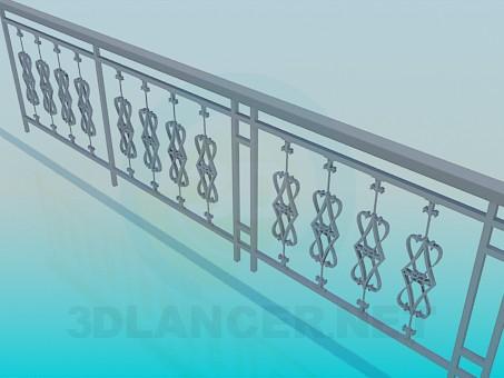 3d модель Перила экстерьерные – превью