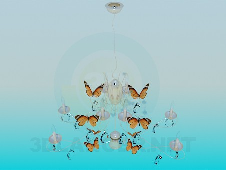 3d model Chandelier-Butterflies - preview