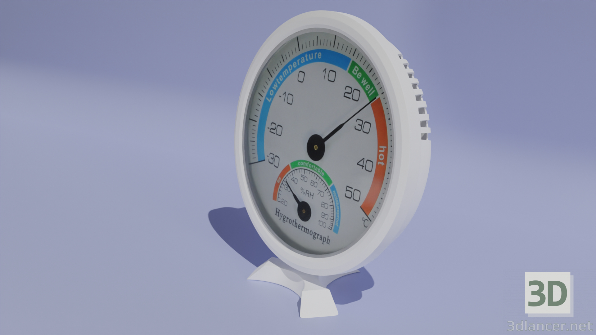 3d model Hydrometer model with thermometer - preview