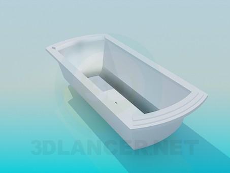 3d modeling Bath with rectangular bottom model free download