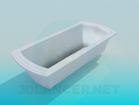 3d model Bath with rectangular bottom - preview