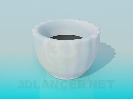 3d модель Горшок для вазона – превью