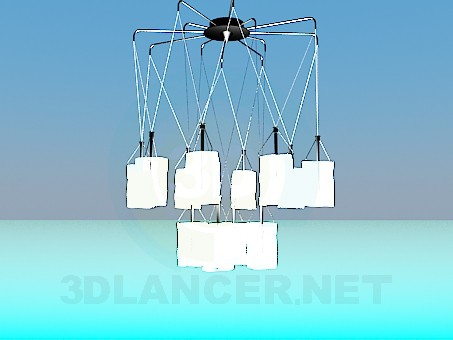 3d модель Современная люстра – превью