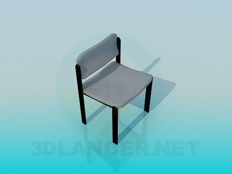 3d модель Стілець з прямою спинкою – превью