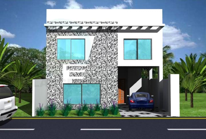 3d model vivienda 2 pisos - vista previa