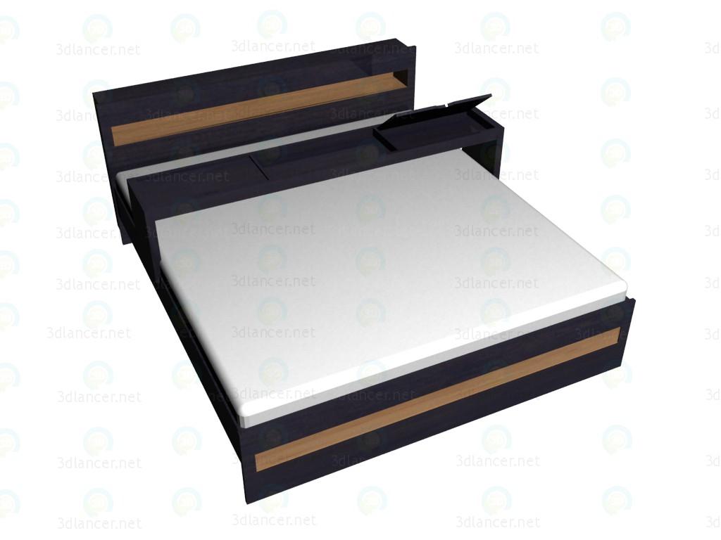 3d модель Кровать 2-местная 180х200 с надставкой – превью