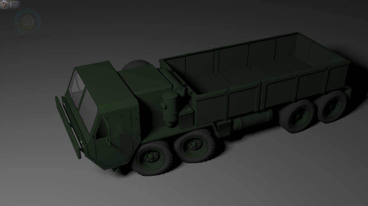 3d model Truck M-977 - preview