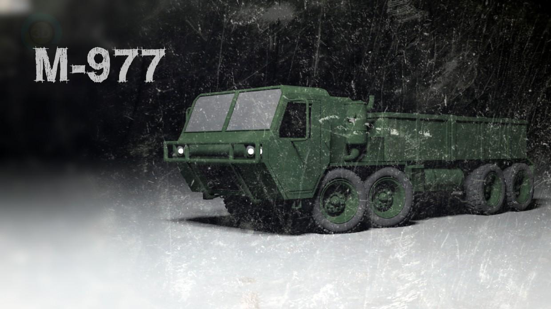 modelo 3D Camión M-977 - escuchar