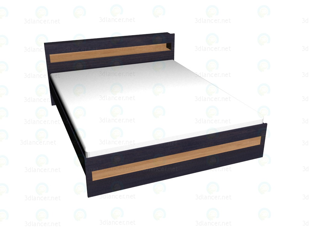 3d model Double bed 180x220 - preview