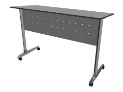 Un escritorio sobre ruedas