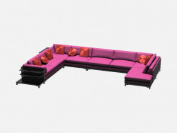 Sofa modular (with shelves) Aquitaine