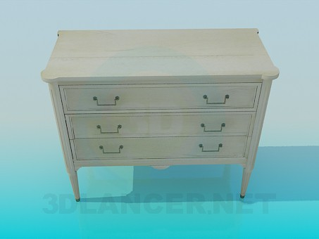 3d model Commode on legs - preview